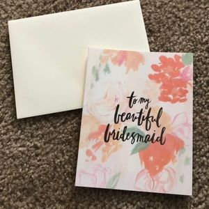 To My Beautiful Bridesmaid Card Set of 8
